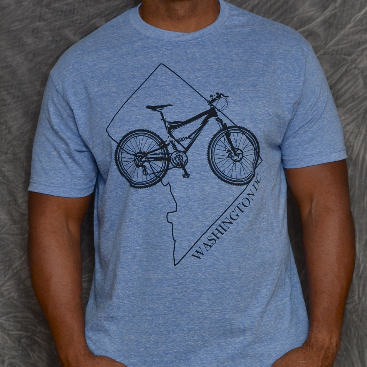 Dc Mountain Bike T Shirt Snow Royal Performance Endurance Gear
